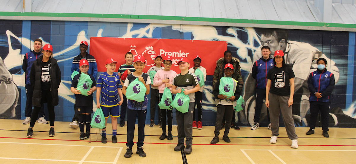 Providing children with free sports provision, meals and festive gifts