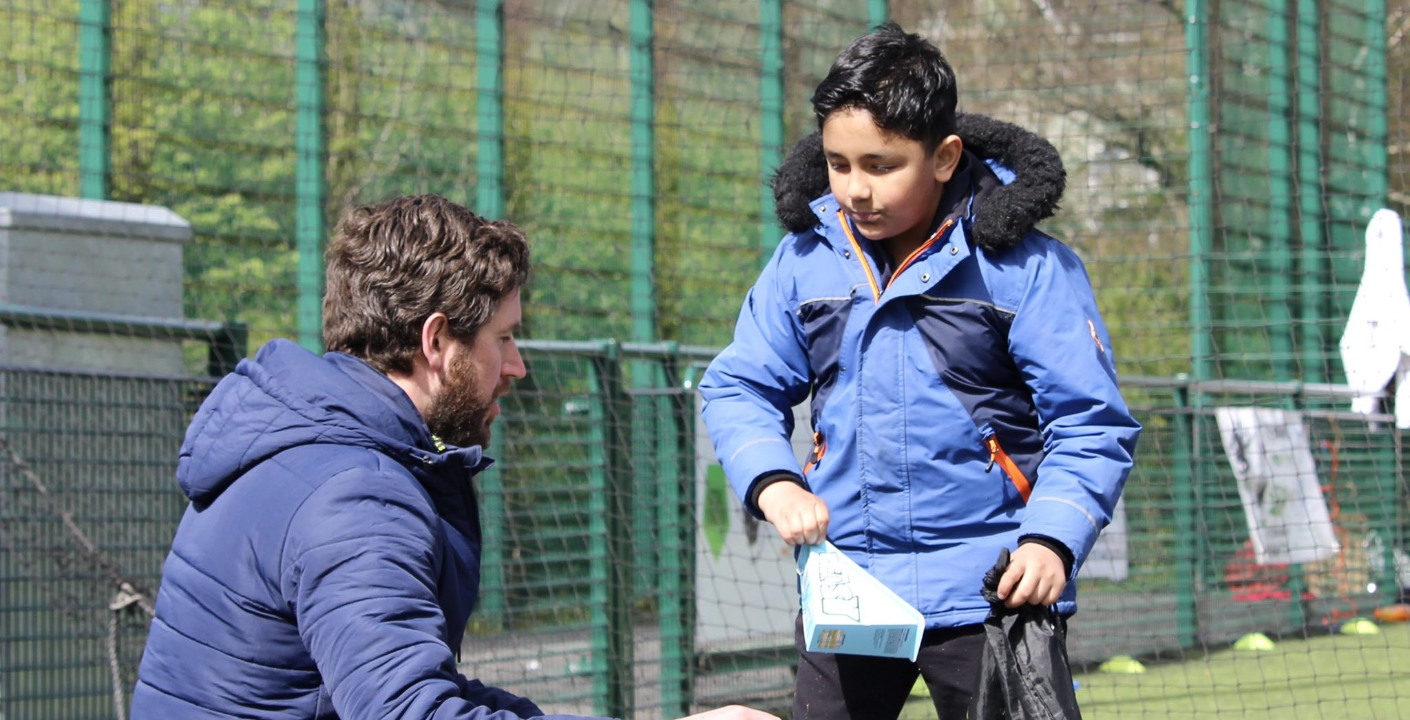 Supporting local children with free food and sports provision
