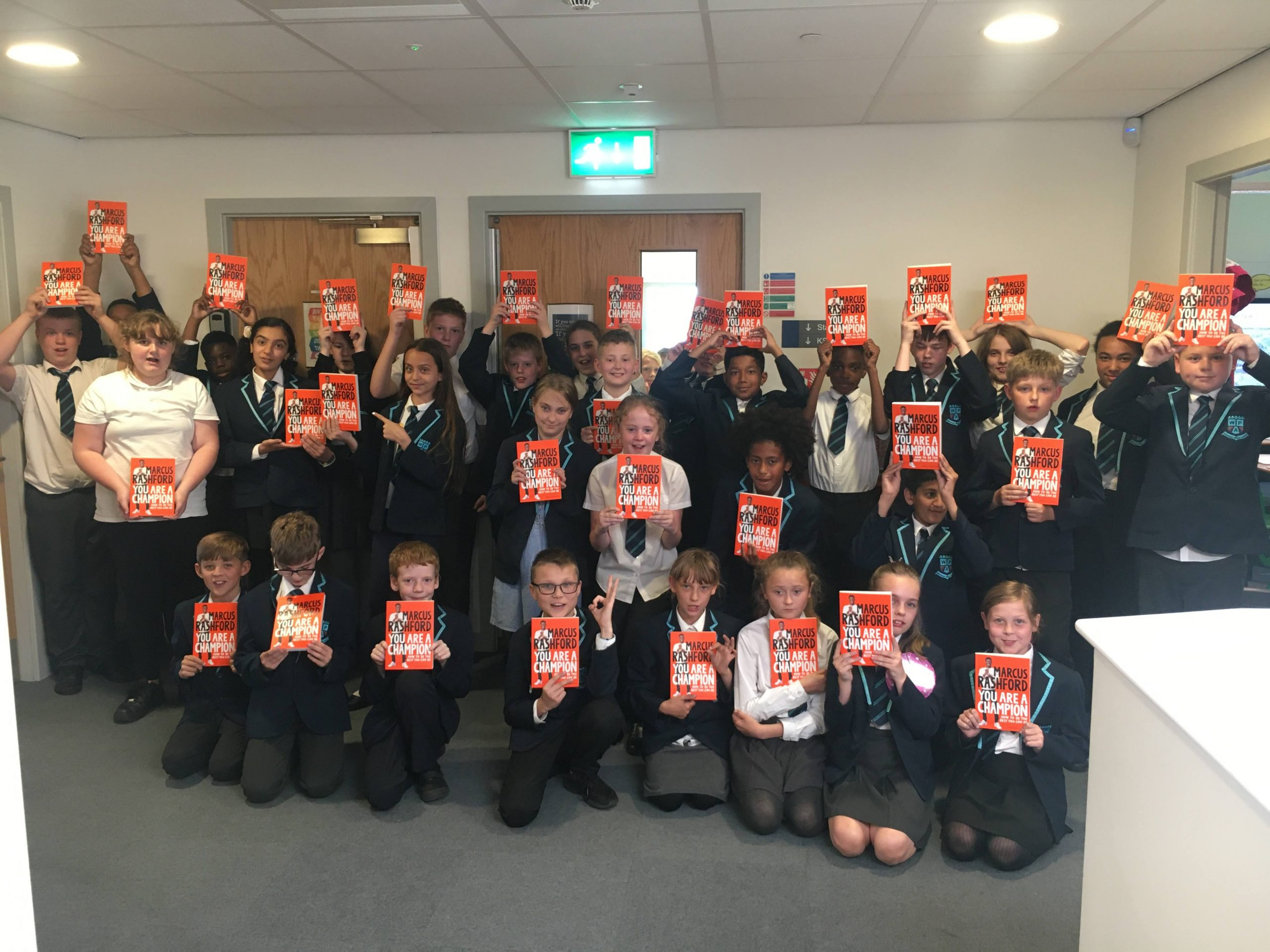 Wainright Primary wins copies of Marcus Rashford's new book!
