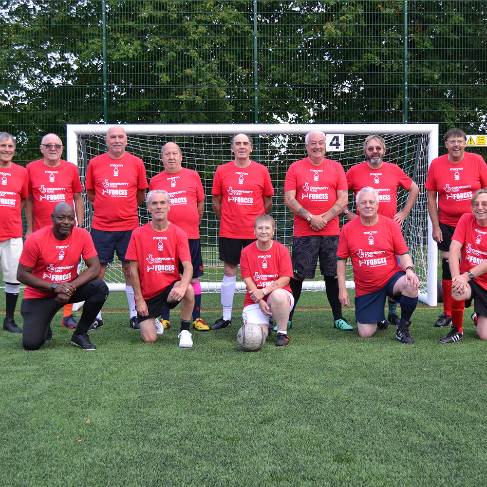 Partnering with Forces in the Community to offer free walking football sessions