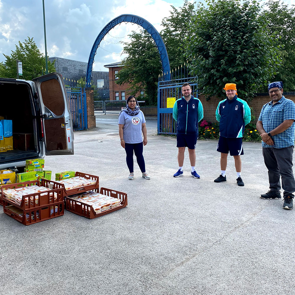 Working with Guru Nanak's Mission to provide children with meals over the summer holidays